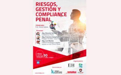 """Webinar """"Riesgos, Gestión y Compliance Penal"""""""
