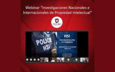 """Webinar """"Investigaciones Nacionales e Internacionales de Propiedad Intelectual"""""""