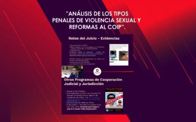 """Seminario Virtual """"Análisis de los Tipos Penales de Violencia Sexual y Reformas al COIP"""""""