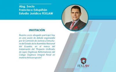 Invitación por la Comisión de Justicia y Estructura del Estado de la Asamblea Nacional del Ecuador