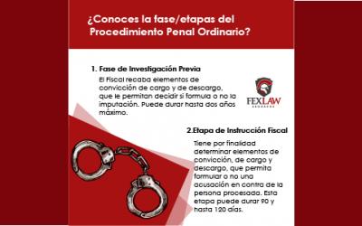 ¿Conoces las etapas del Procedimiento Penal Ordinario?