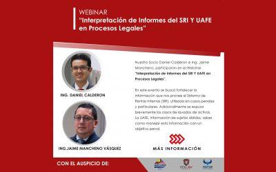 "Webinar: ""Interpretation of SRI and UAFE Reports in Legal Proceedings"""