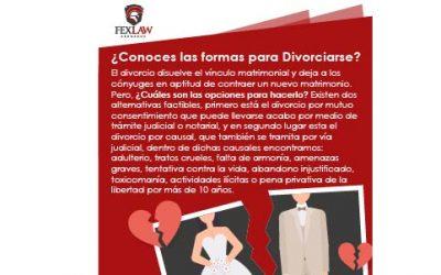 ¿Conoces las formas de divorciarse?