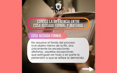 Diferencia entre Cosa Juzgada Formal y Material