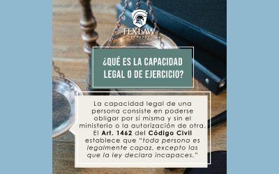 Capacidad Legal o de Ejercicio