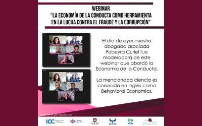 """Webinar """"La Economía de la Conducta como herramienta en la lucha contra el fraude y la corrupción"""""""
