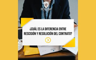 Diferencia entre rescisión y resolución del contrato